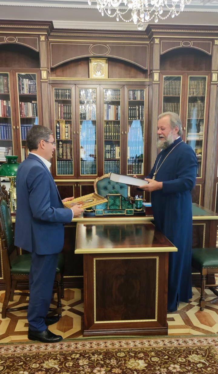 """Igor Grosu s-a intalnit astazi cu Mitropolitul Vladimir: """"Am discutat  despre importanta cooperarii intre Biserica si Stat"""" - FOTO"""